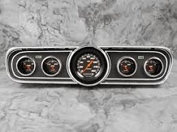 1965 mustang instrument cluster instruments 1965 1966 mustang package velocity black