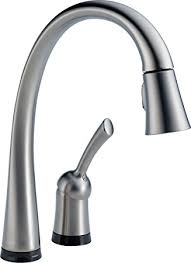 touch on kitchen faucet delta faucet 980t ar dst pilar single handle pull kitchen