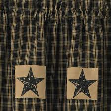sturbridge star patch gathered swags prairie curtains park designs
