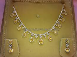 yellow sapphire necklace images Czs and yellow sapphires set jewellery designs jpg