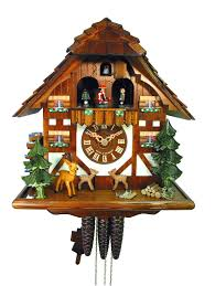 Regula Cuckoo Clock Chalet 1 Day Jumping Deer Cuckoo Clock With Music 33cm By August