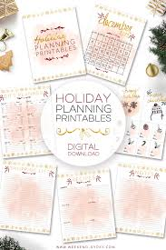 holiday goals perfect planning printables u2014 the weekend gypsy