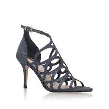 glide miss kg glide dark blue glitter heeled sandal by miss kg