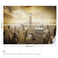 wall mural photo wallpaper xxl sepia new york city 3586ws ebay wall mural photo wallpaper xxl sepia new york