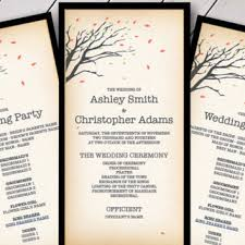fall wedding programs printable wedding invitations from vginvites on etsy