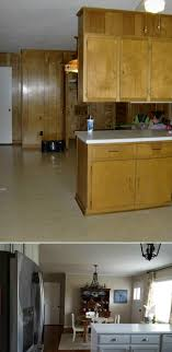 how to fix kitchen base cabinets to wall before and after i removed the cabinets the