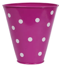 planter with white polka dots u2013 cast in iron u2013 decorative pots