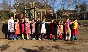 world book day schoolboys go to class dressed as girls in tribute