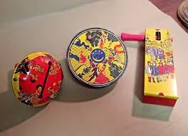 new years noise makers vintage tin new year s noisemakers lot of 3 19 99