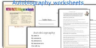 english teaching worksheets autobiography