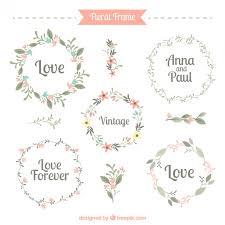 five frame five cute floral frames vector free download