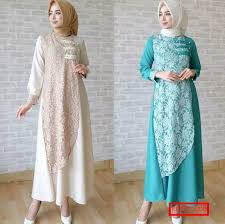 Baju Muslim Brokat 23 model gaun brokat muslimah syar i terbaru model baru
