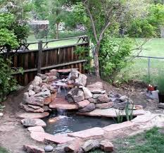 Waterfall In Backyard Backyard Waterfall And Koi Pond Features Blog Archive Under