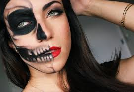 Halloween Skull Face Makeup by Makeup And Art Freak Half Skull Half Glamour Last Minute