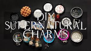 bottle cap necklaces diy supernatural charms bottle caps magnets pins u0026 more youtube