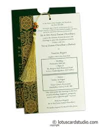 Card Inserts For Invitations Magnificent Green Wedding Invitation Card With Dori