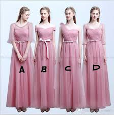 pink bridesmaid dresses modest blush pink bridesmaid dresses with sleeves shoulder