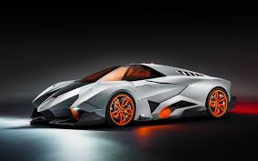 lamborghini gray lamborghini egoista gray and orange sport car
