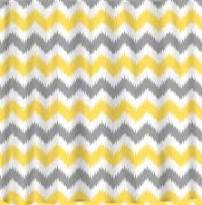 yellow and grey chevron shower curtains u2022 shower curtains design