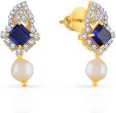malabar diamond earrings malabar gold and diamonds yellow gold 22kt ruby emerald stud