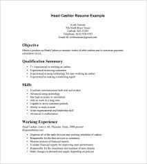cashier resume template 15 cashier resume templates free word pdf