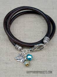 make leather cord bracelet images How to make leather cord bracelets with charms 5 steps jpg