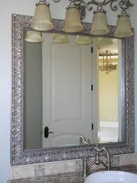 bathroom ideas ultra modern framed bathroom mirror with double