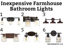 Inexpensive Bathroom Lighting Inexpensive Farmhouse Bathroom Lights 6 Inexpensive Bathroom Lights