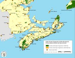 Map Of Nova Scotia Maps U0026 Photos Recent Anthropogenic Changes Within The Forest