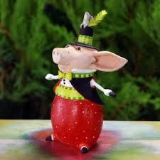 patience brewster pig ornaments unique painted pig