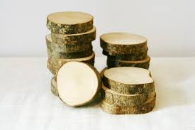 10 wood slices tree slices wood wooden tags log wooden slices