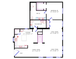 House Plans With Basement 24 X 44 Cottage