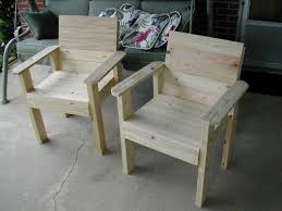patio chairs made with 2x4 and 1x4 pine things to build
