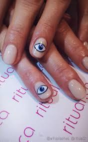 best 10 evil eye nails ideas on pinterest moon manicure