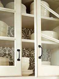 Glass Designs For Kitchen Cabinet Doors by Best 25 Wallpaper Cabinets Ideas On Pinterest Open Cabinets