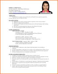 Sample Resume For Utility Worker by Example Of Resume For Applying Job