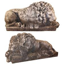 marble lions italian pair of marble lions after antonio canova for sale at 1stdibs