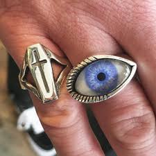 coffin ring our 925 sterling silver coffin ring and horizontal prosthetic eye