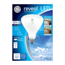 colored light bulbs lowes shop ge reveal 65 w equivalent dimmable color enhancing br40 led