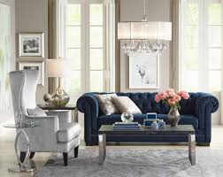 our fabulous velvet tufted sofa is the centerpiece of this living