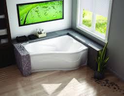 corner tub bathroom ideas corner bathtub shower white tub with gl front side plus shelves