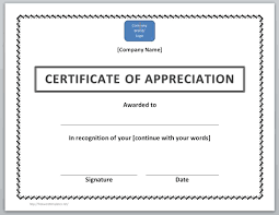 business certificate templates certificate of appreciation example