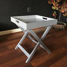 serving tray side table wooden tray butler table grey white serving folding 24 99