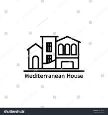 house mediterranean style real estate icon stock vector 556144189