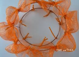 fall ribbon easy deco mesh and ribbon fall wreath time with thea