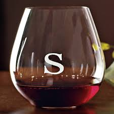 diy monogram wine glasses personalized riedel o pinot noir burgundy stemless wine glasses