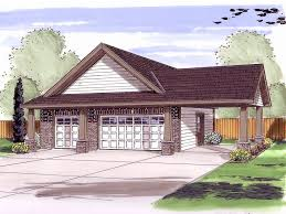 House With Carport Craftsman Style Two Car Garage Plan With Carport And Service Door