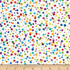 party confetti kanvas let s party confetti white discount designer fabric