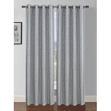 Light Grey Drapes Window Elements Semi Opaque Jasper Printed Faux Silk 84 In L