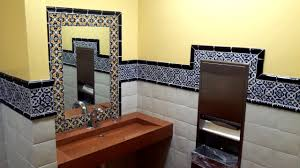 mexican restaurant bathroom with mexican talavera tiles latin